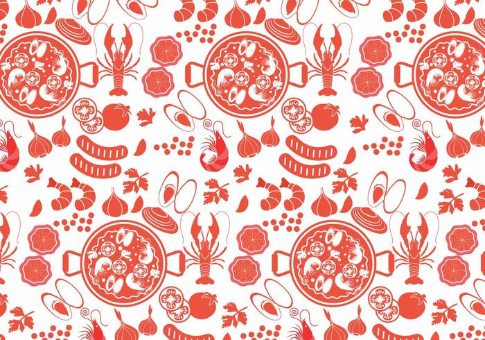 Paella Pattern Vector