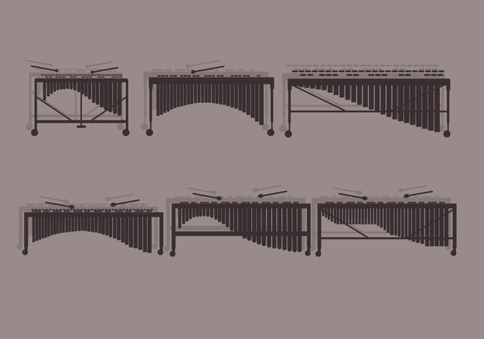 Marimba front view vector