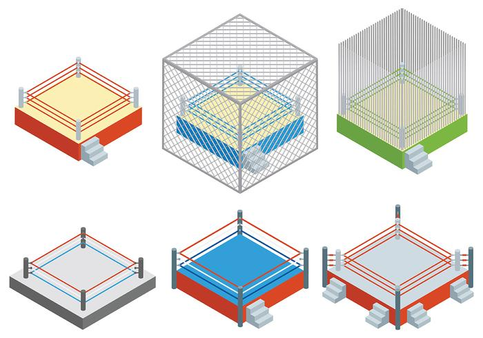 Free Wrestling Ring Icons Vector
