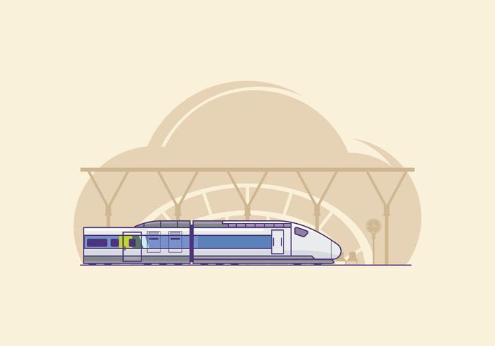 Gratis TGV Trein Illustratie