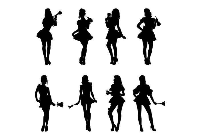 Free Maid Silhouettes Vector