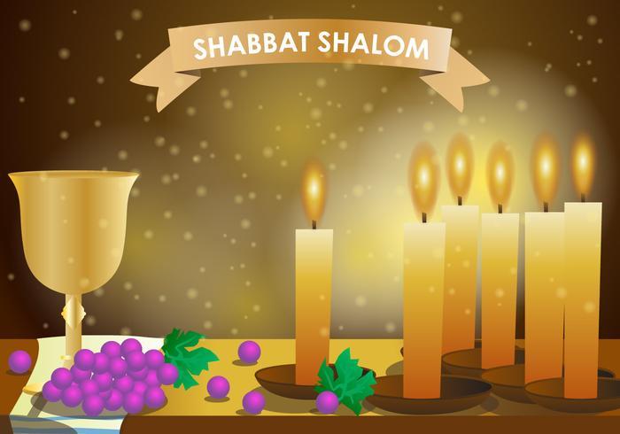 Schabbat Shalom Kerze