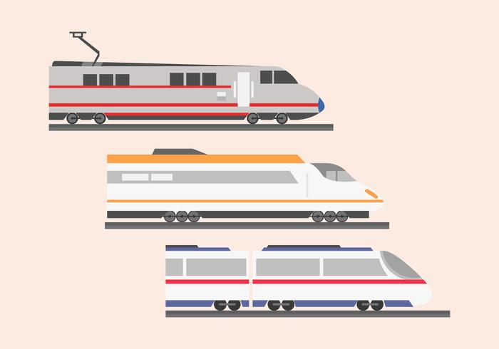 High speed rail TGV city train illustratie vlakke kleur