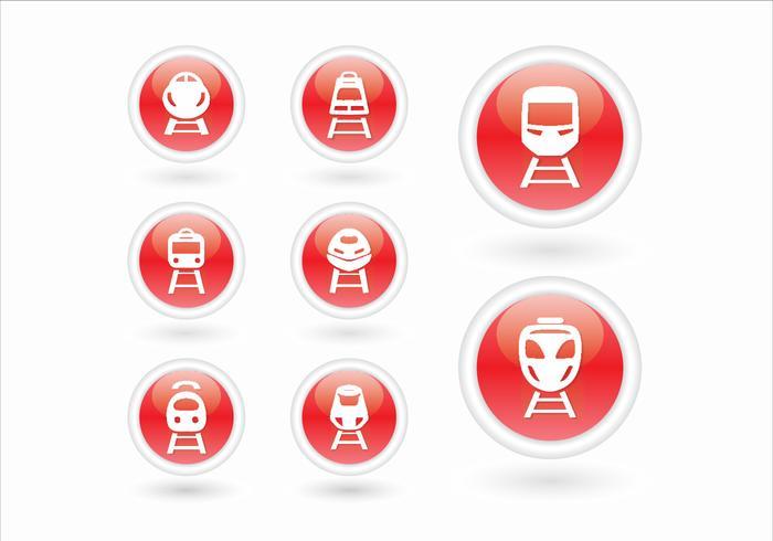 High speed rail TGV city train 3d icon vector