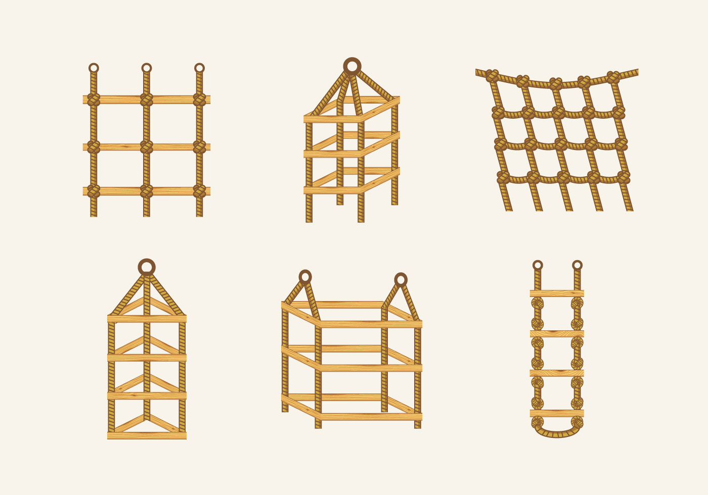 Beau Rope Ladder Knot Wood Stairs Vector Stock   Download Free Vector Art, Stock  Graphics U0026 Images