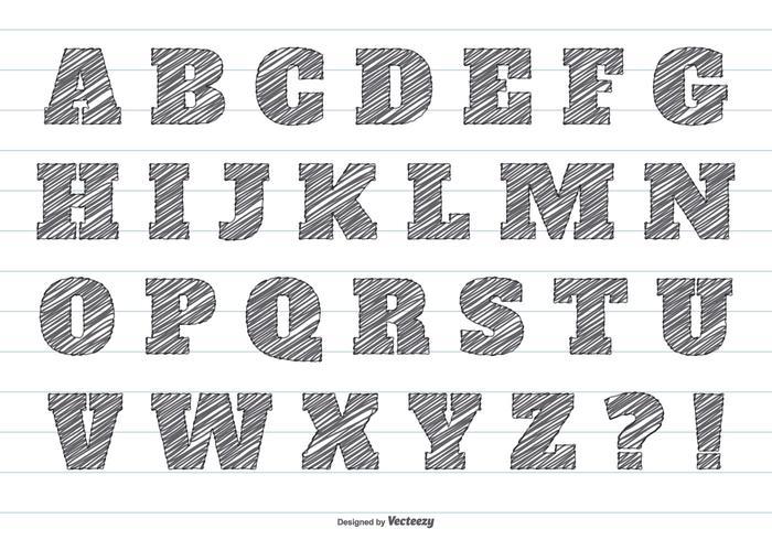 f1499c39d Pencil Scribble Vector Alphabet - Download Vetores e Gráficos Gratuitos