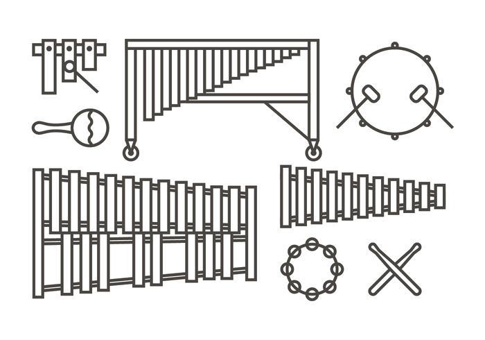 Marimba music icons