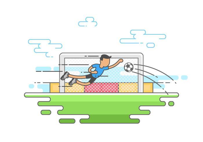 Målvakten sparar bollen