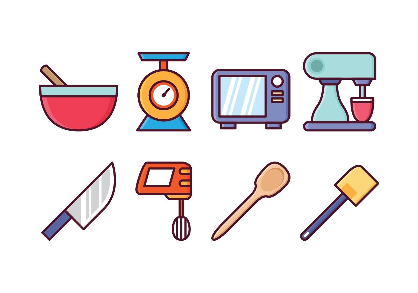 Free Kitchen Icon Set Download Free Vectors Clipart