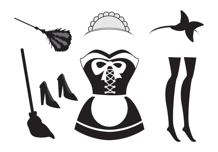 Illusration of French Maid Element - Download Free Vectors ...