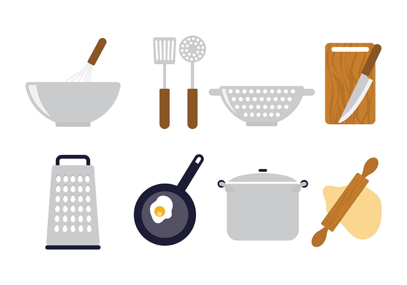 Cooking Icons Vector Download Free Vectors Clipart