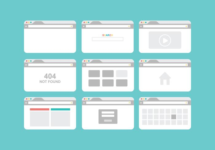 Free Browser Vector Pack