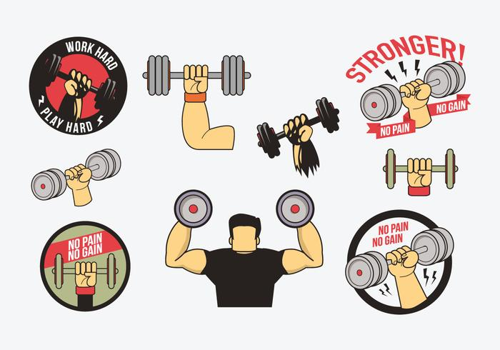 Gratis Dumbbell Vector