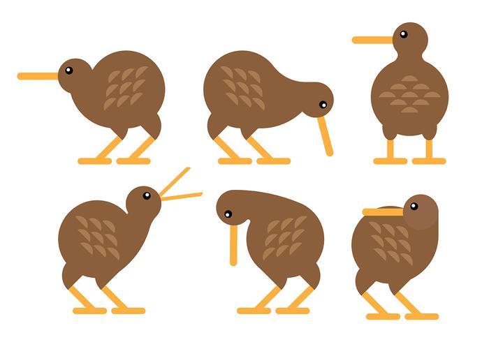 Gratis Vector Kiwi Vogel Pictogrammen