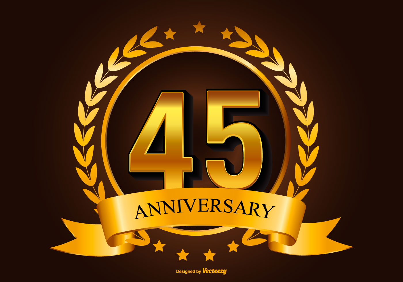 Beautiful 45th anniversary illustration download free vector art stock graphics images - Th anniversary symbol ...
