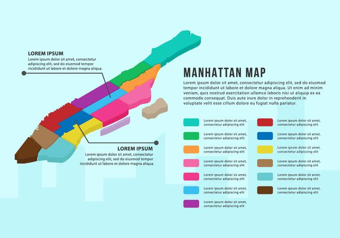 Gratis Manhattan Map Infographic