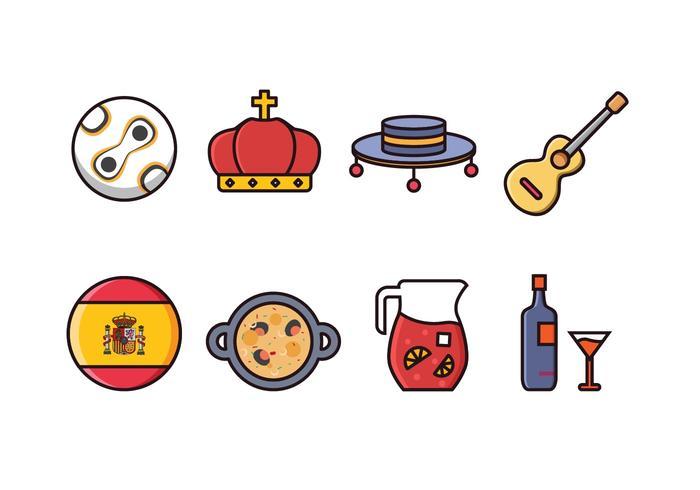 Ensemble d'icônes d'Espagne gratuit