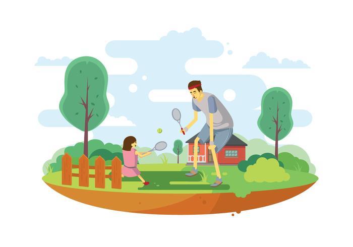 Illustrazione di tennis gratis