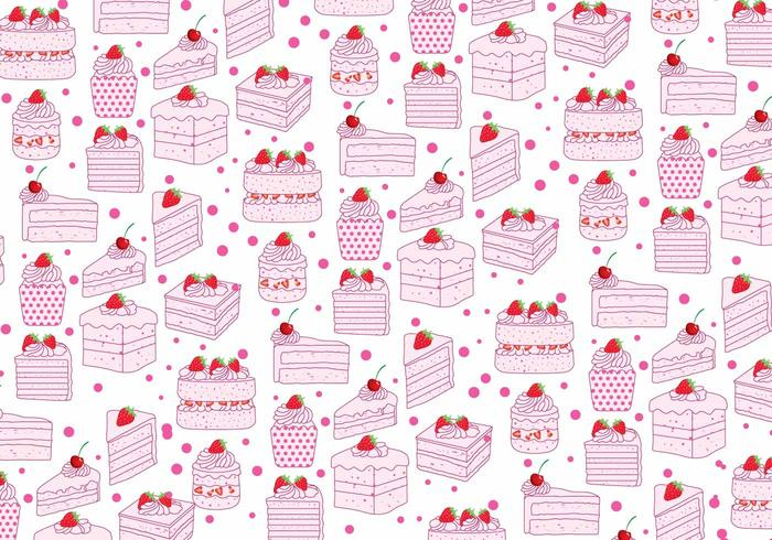Strawberry Shortcake Pattern Vector