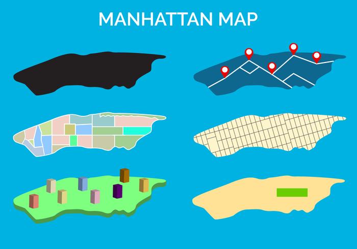 Gratis Manhattan Kaart Vector