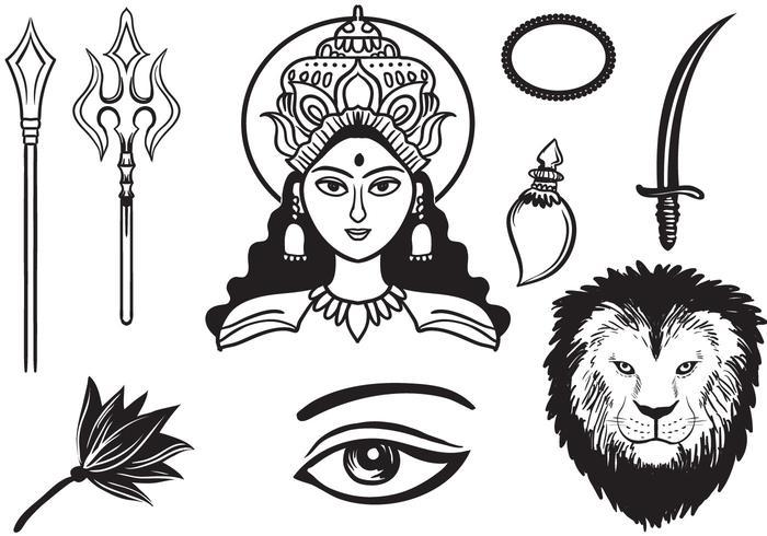 Gratis Durga 2 Vectoren