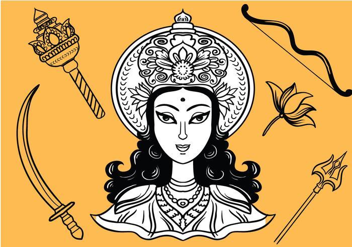 Kostenlose Durga-Vektoren vektor