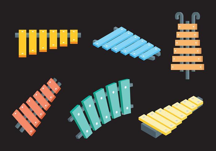 Kostenlose Marimba Icons Vektor