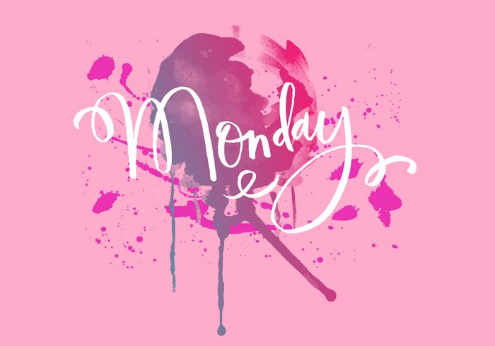 Monday Inky Watercolor