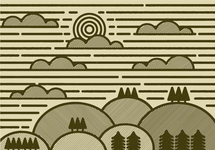 vettore di paesaggio minimale