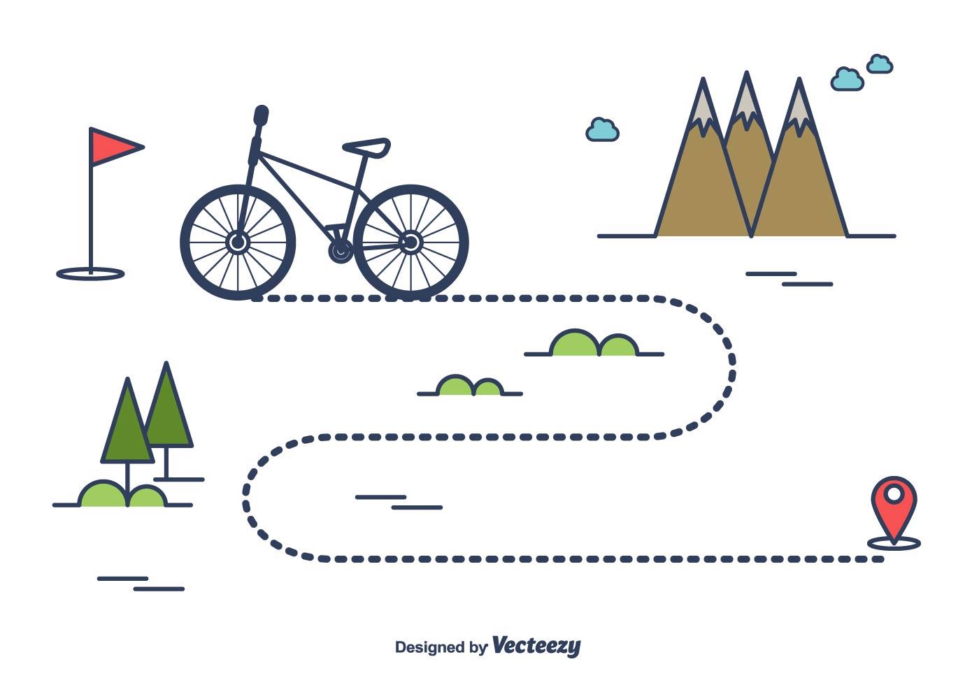 bike trail vector download free vector art stock