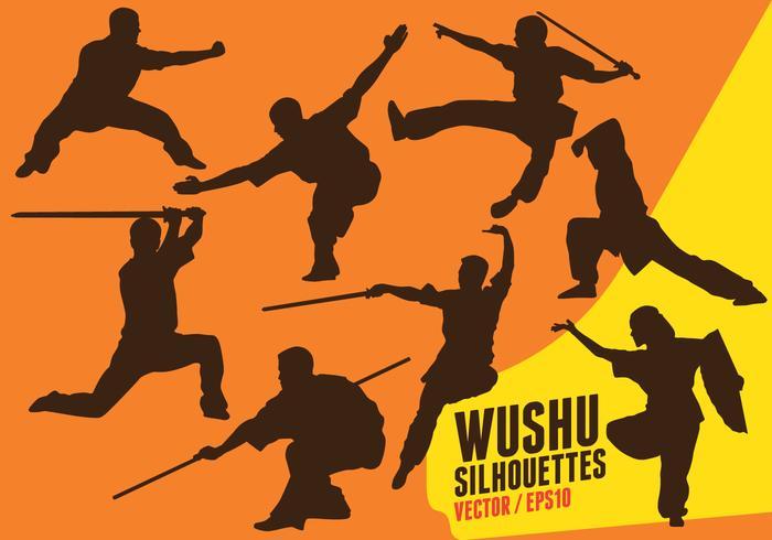 Wushu Silhouettes vector