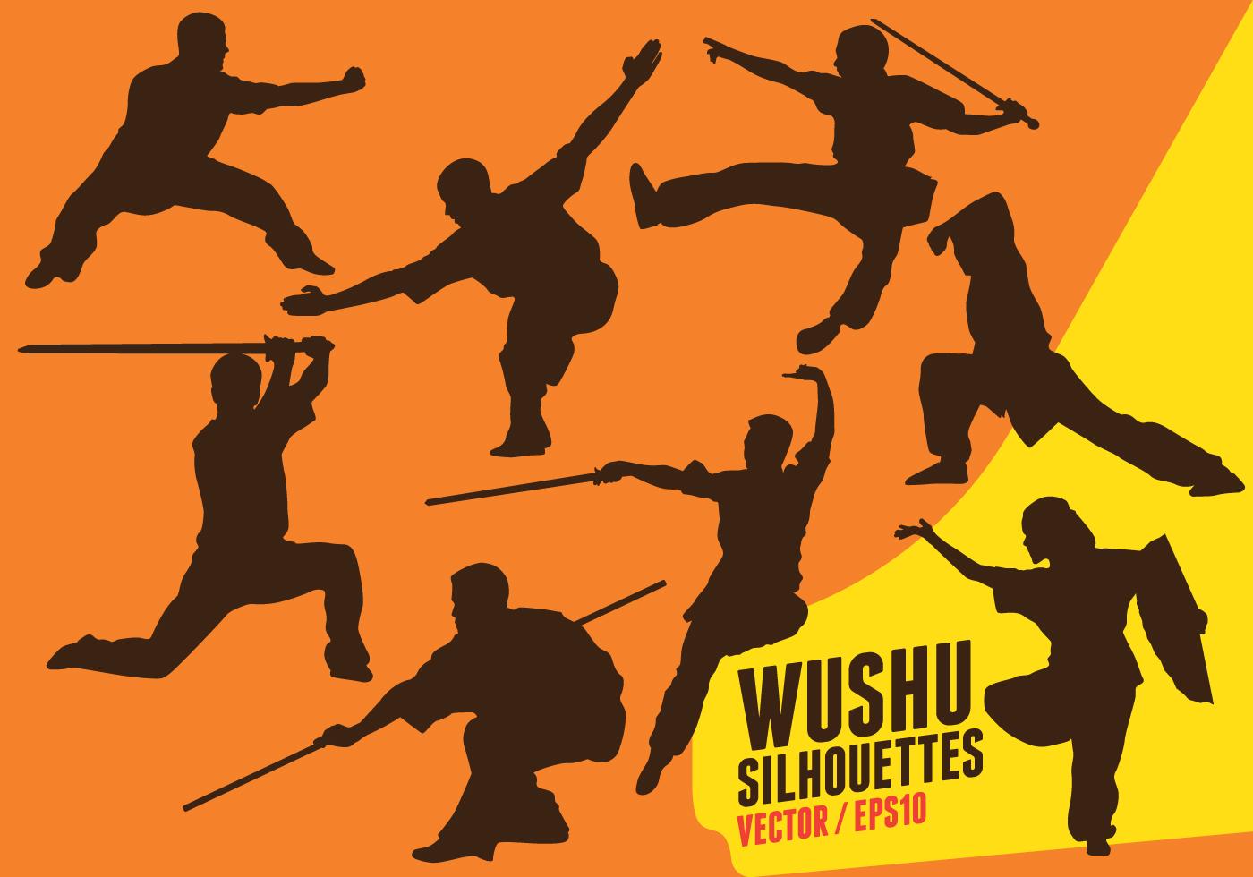 Silhuetas De Wushu Download Vetores Gratis Desenhos De Vetor