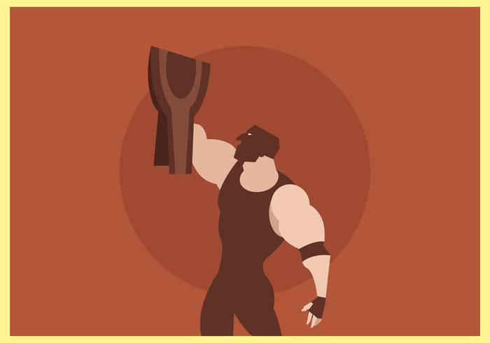 Lutador Mascarado Com Wrestling Champion Belt Vector