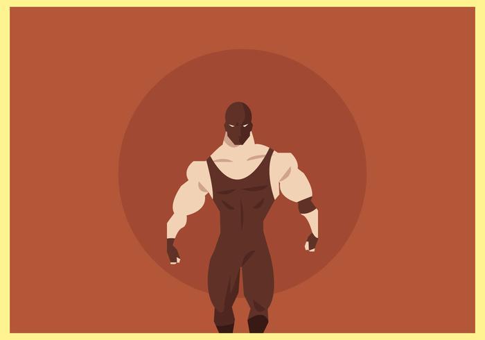 Masked Wrestler Walking Vector