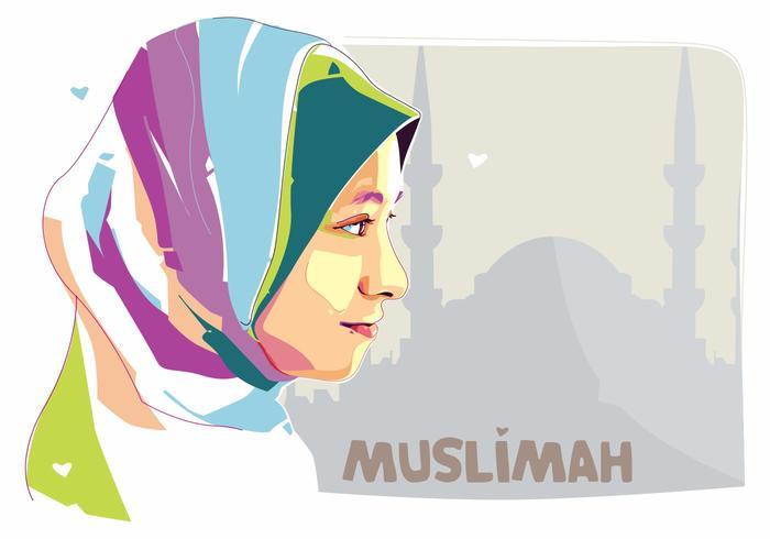 Muslimah - Moslemleven - Popart Portret