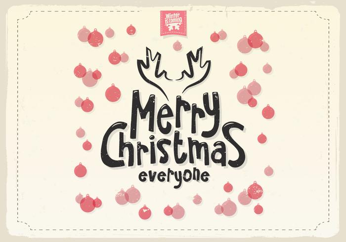 Merry Christmas Ornaments Vector