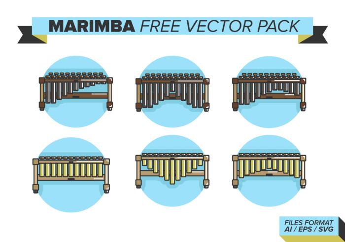 Paquet vectoriel libre de marimba
