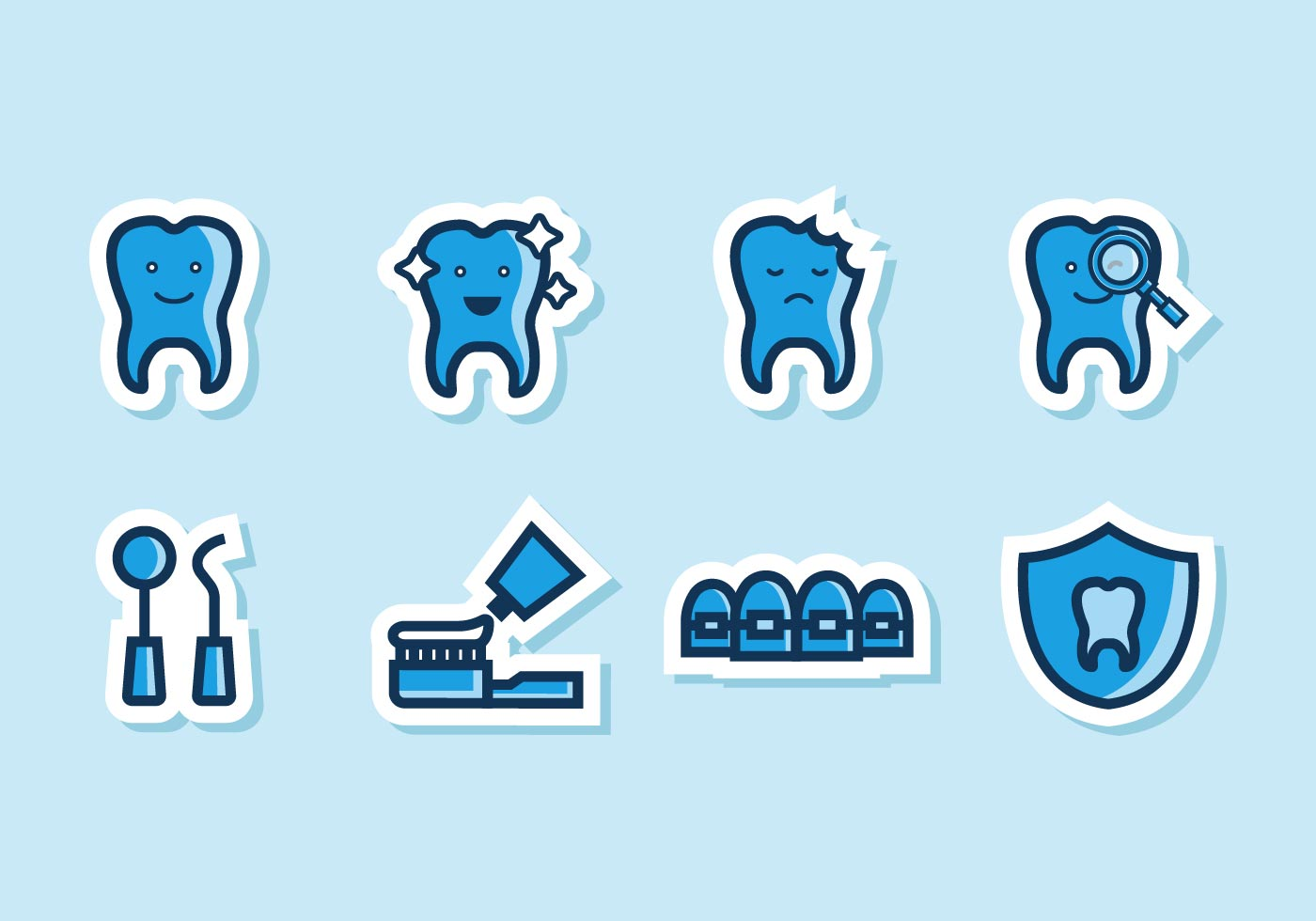 Dental icons - Download Free Vector Art, Stock Graphics & Images