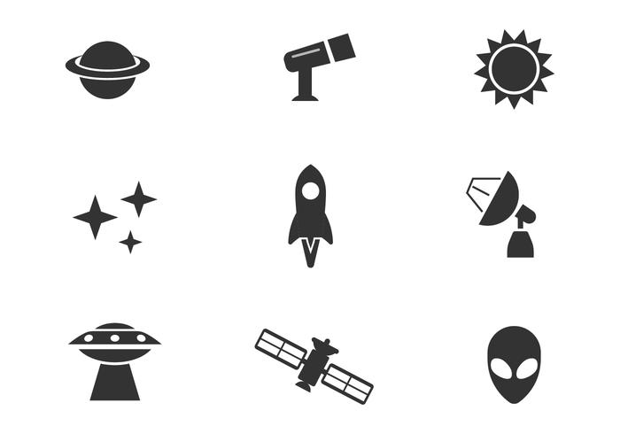 Outer Space Vector Icons