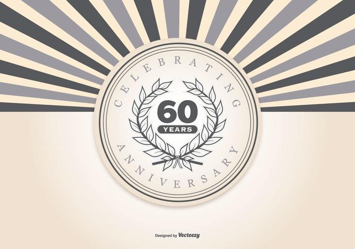 Retro Style 60th Anniversary Illustration