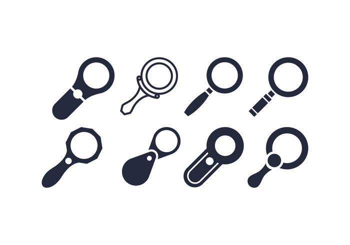 Magnifying glass vectors
