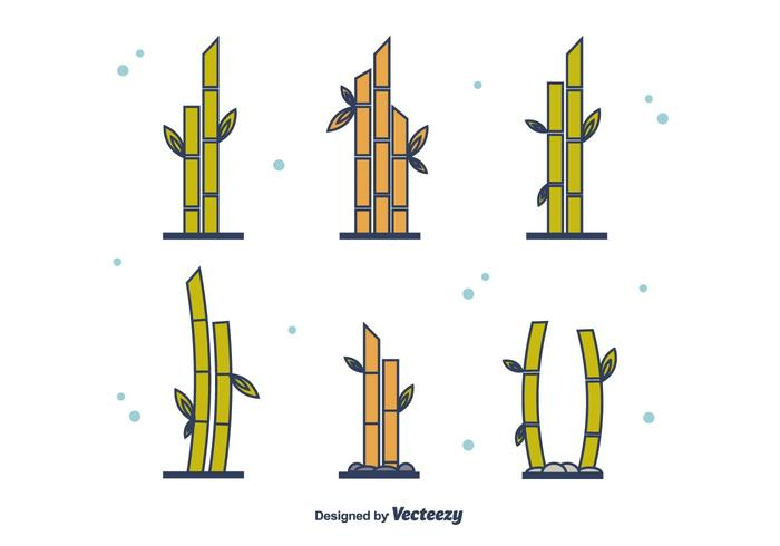 Gratis Bambu Set vektor