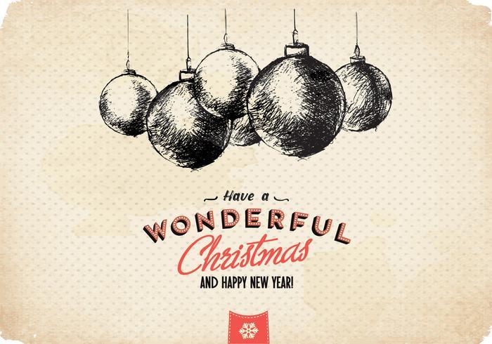 Maravilhoso vetor de ornamento de Natal