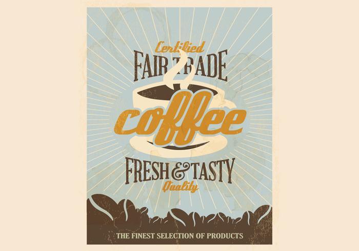 Gecertificeerde vrijhandel koffie vector