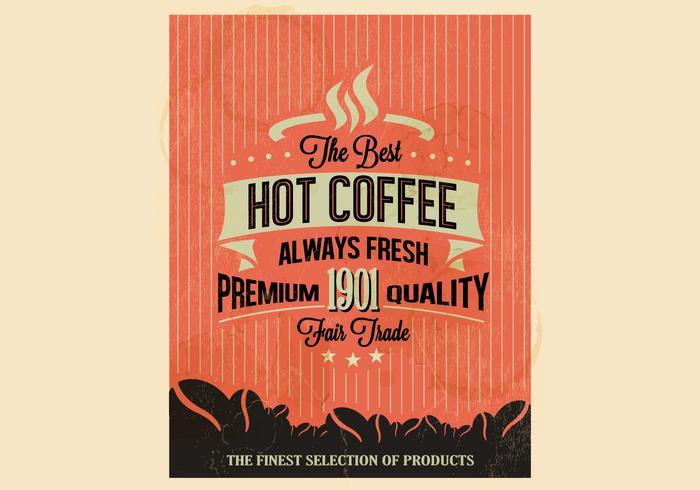 Högkvalitativt kaffe vektor
