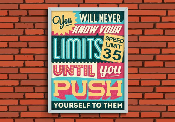 Push Your Limits Vector