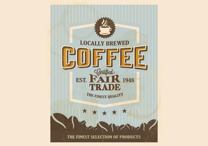 Sixties-Style Coffee Logo Vector