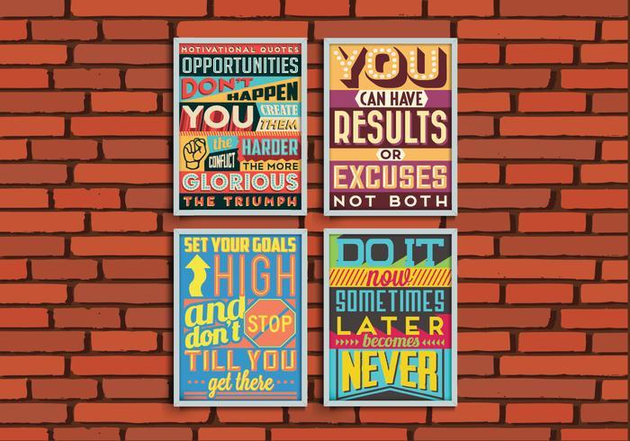 Doelen Posters Vector