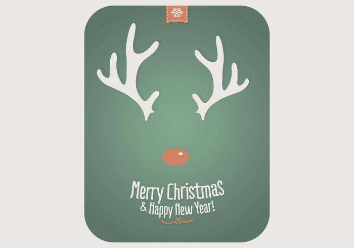 Rudolph Playing Card Vector