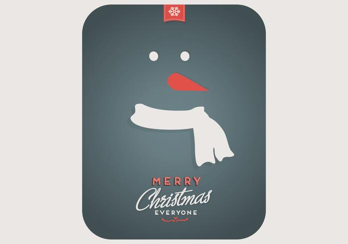 Snowman Playing Card Vector